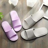 日式居家拖鞋情侶涼拖鞋女室內塑料浴室防滑洗澡鞋 黛尼时尚精品