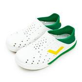 LIKA夢 PONY 防水輕量透氣 ENJOY 世足賽洞洞休閒鞋 巴西 白綠黃 82U1SA75OW 男