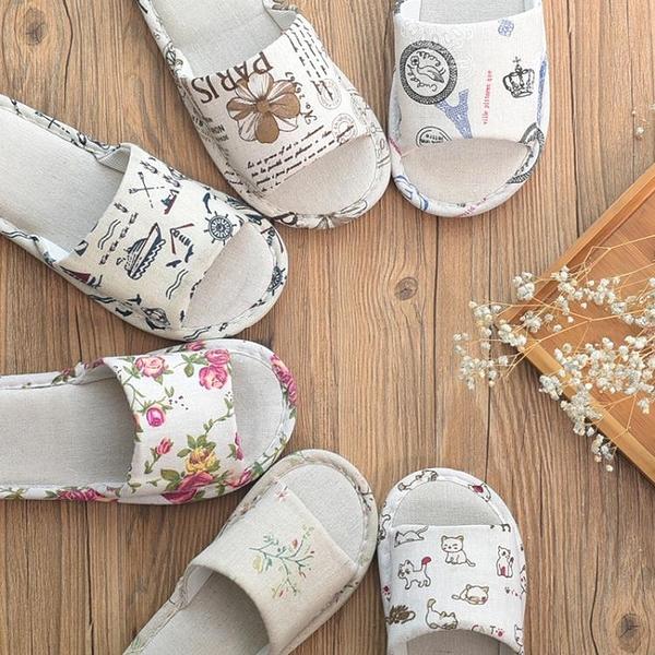 情侶棉拖鞋女夏男亞麻居家室內家用一次性軟底布防滑涼拖批四季發