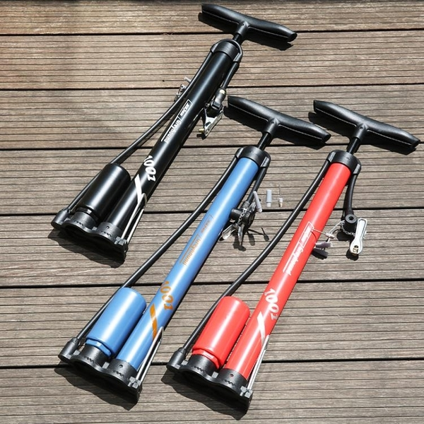 自行車打氣筒高壓落地式打氣筒山地車公路車通用打氣筒