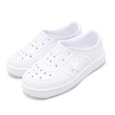 Nike 休閒鞋 Foam Force 1 TD 白 全白 Air Force 免綁鞋帶 氣孔設計 童鞋 小童鞋【PUMP306】 AQ2442-100