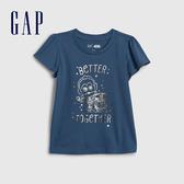 Gap女幼童 Gap x Star Wars星際大戰系列印花圓領短袖 577320-深灰