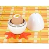 造型微波蒸蛋器 可愛紅腳 微波煮蛋超方便