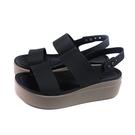 Crocs 涼鞋 黑色 厚底 女鞋 206453-07H no049