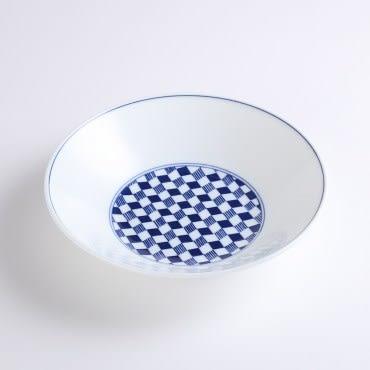 日本晨月圓盤22cm 菱市松