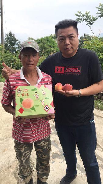產地直配【果之蔬-全省免運】拉拉山五月水蜜桃(媽媽桃)X1盒(2.5斤±10%/盒 每盒8粒)