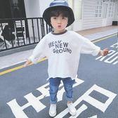 兒童長袖上衣T恤男童打底衫