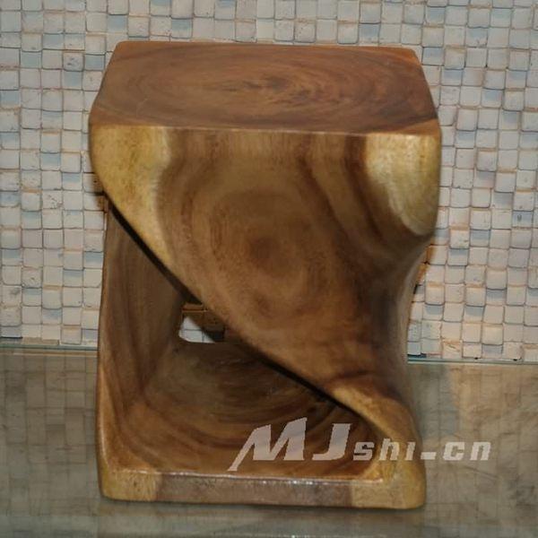 柚木傢俱 猴子木藝術凳子