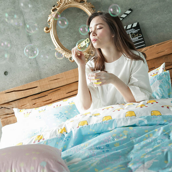床包 / 單人【尋找夢奇地-兩色可選】含一件枕套,100%精梳棉,奇妙童話時光,戀家小舖台灣製