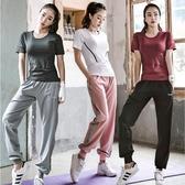 六月專屬價 健身房運動套裝女網紅抖音好看的速乾衣夏季 晨跑步兩件套瑜伽服