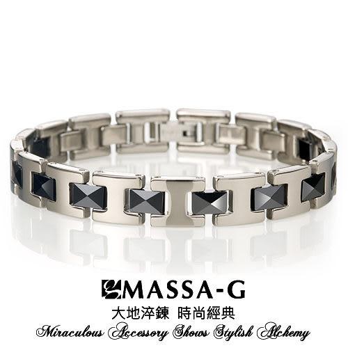 永恆印記 黑色陶瓷純鈦手環 MASSA-G  Deco系列