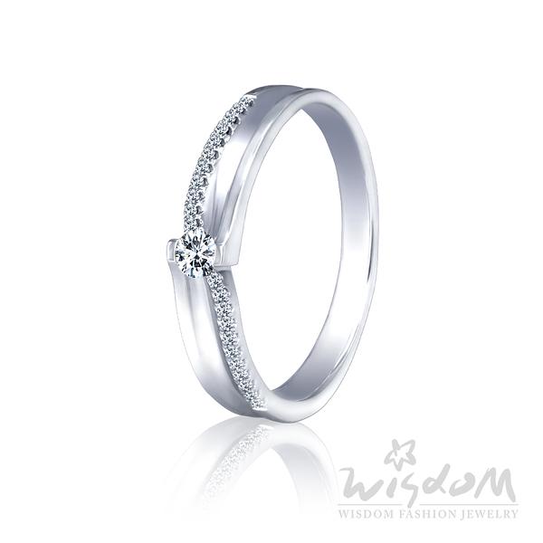 威世登相繫相戀-K金鑽石戒指-女戒 婚戒推薦 情人節禮物 DA03234G-BAAXX