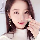 的耳環女氣質韓國個性百搭長款純銀針吊墜一款兩戴流蘇耳墜『小淇嚴選』