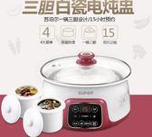 迷你小電燉鍋家用煮粥鍋電燉盅陶瓷隔水燉煲湯鍋 220V YYP