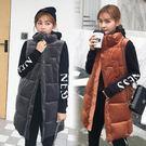 無袖背心棉羽絨馬甲女士秋冬季外套中長款小個子外穿·皇者榮耀3C旗艦店