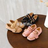 皮鞋 年春季新款兒童鞋女童單鞋公主鞋韓版潮牛筋底豆豆鞋中童大童「鹿角巷」