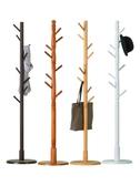 衣帽架木馬人實木衣帽架落地掛衣架柜子簡易臥室家用衣服包置物簡約現代LX新品