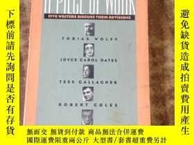 二手書博民逛書店A罕見Piece of Work: Five Writers D