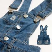 【錢豪童裝童鞋】俏皮牛仔吊帶裙(85~120cm)
