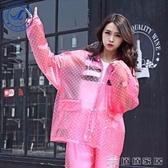 雨衣 女成人韓國時尚徒步雨披電動摩托車雨衣雨褲套裝防水(快速出貨)