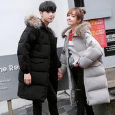 情侶可穿羽絨鋪棉外套大衣超長款保暖大衣風衣外套寬鬆保暖加厚棉衣