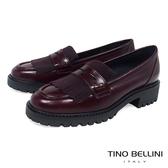 Tino Bellini 義大利進口復古學院風單層流蘇樂福鞋 _ 酒紅 B79204A 歐洲進口款
