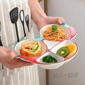 兒童餐盤 分格盤陶瓷餐具不規則飯盤寶寶可愛卡通小汽車盤子家用  ATF  魔法鞋櫃