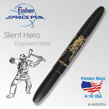 Fisher Silent Hero Matte Black Bullet Space Pen沉默的英雄筆#400B/FH太空筆【AH02127】i-style居家生活