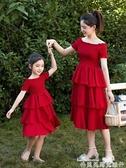 親子裝女童連身裙夏裝2019新款洋氣4兒童裝5網紅6親子7夏季8公主裙子9歲 聖誕節