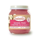 法國Babybio 生機香蕉草莓泥130g[衛立兒生活館]
