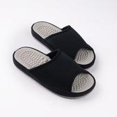 日本設計素面按摩拖鞋 -黑L