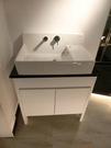 【麗室衛浴】日本INAX   GNL-537-TW 檯面式面盆+面盆龍頭+人造石檯面+防水發泡板落地式浴櫃