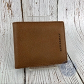 BRAND楓月 BURBERRY 焦糖棕 二折 短夾 皮夾 錢包