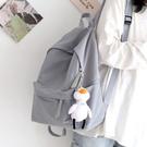 後背包 ins森系純色百搭雙肩包女韓版原宿書包中學生初中生背包女雙肩 交換禮物