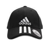 ADIDAS 6P 3S CAP COTTO 三線棒球帽 黑白 DU0196 鞋全家福