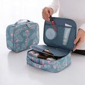 便攜化妝包大容量手拿收納袋韓國簡約小號防水旅行隨身洗漱品手提【米拉生活館】
