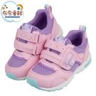 《布布童鞋》Moonstar日本3E寬楦速乾粉紫色兒童機能運動鞋(15~21公分) [ I1H654G ]