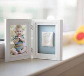 美國Pearhead- 寶寶印記桌上相框–白色