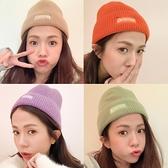 現貨◆PUFII-帽子子 多色繽紛字母針織毛帽子- 0105 冬【CP19886】