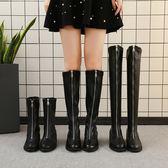 長款靴子女秋季新款2019中長款中跟過膝馬丁靴高腰單靴子ins鞋冬