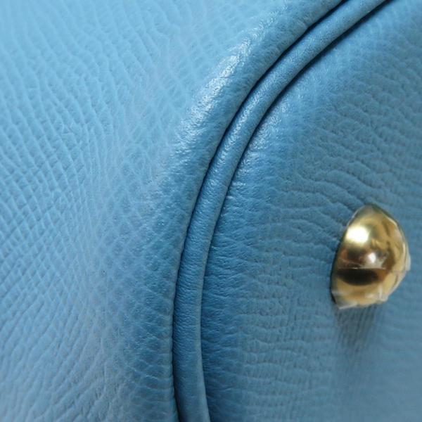 HERMES 愛馬仕 Bolide 1923 30 Bleu Du Nord 北方藍色牛皮手提肩背柏莉包 BRAND OFF