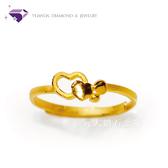 【元大鑽石銀樓】『小甜心』黃金戒指 活動戒圍-純金9999國家標準