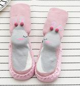 韓版秋冬加厚可愛卡通毛圈兒童地板襪防滑點膠保暖寶寶學步鞋襪第七公社