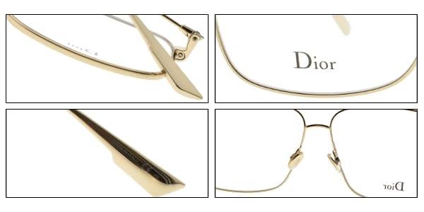 Dior 光學眼鏡 STELLAIRE O3 J5G (金) 時尚造型飛官款 平光鏡框# 金橘眼鏡