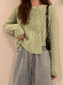 針織外套 秋季上衣女秋裝年不規則長袖針織衫女裝短款毛衣開衫外套  芊墨左岸 上新