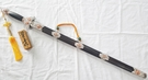 郭常喜的興達刀鋪-雙龍降魔劍(D0034)手工打造積層鋼劍刃/純銀玫瑰金配件