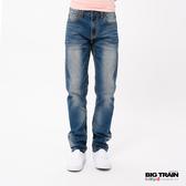 BIG TRAIN   COOLMAX粗針復古刷色小直筒褲-男-BM7253