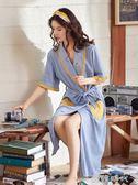 睡袍女夏季純棉浴袍女薄款日系睡衣長款日式浴衣夏天女士晨袍和風 歐韓時代