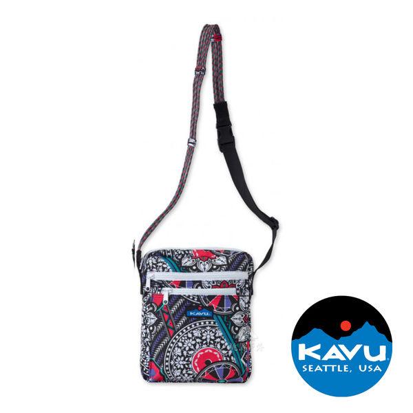 【KAVU】Zippit 休閒側背包『紫被毯』873-561