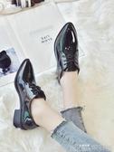 英倫風ins小皮鞋女學生秋季新款韓版百搭ulzzang單鞋粗跟女鞋 歌莉婭